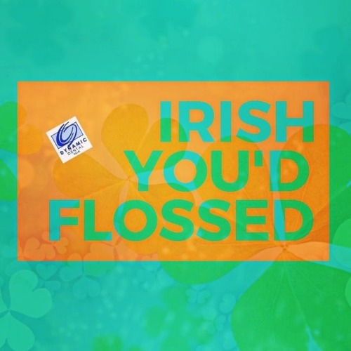 st. patricks day flossing pun graphic
