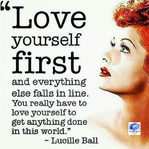 love yourself first branded graphic